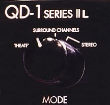 Shown here, is the Mode switch for the Dynaco QD-1. This switch has three settings:  Theater, Surround Channels, and Stereo
